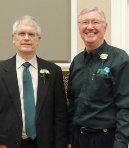 Wild Rose Entertainment president Tom Timmons (left) and Grow Greene County member Mike Mumma