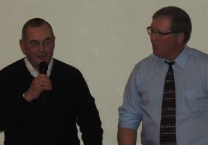 Auctioneer Gary Rupiper and emcee Mike Holden