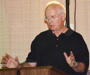 "Richard Wilkey, ""the father of Prairie Meadows""  Scranton Journal photo"