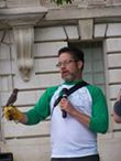 Local conservationist Matt Wetrich gave an informative presentation about the birds in our backyards after the formal dedication.