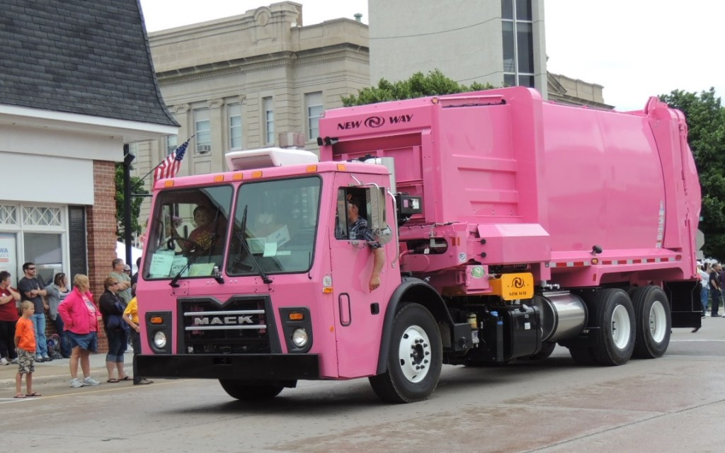 New Way pink truck