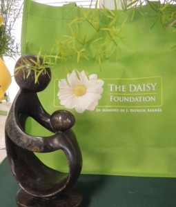 "A hand-carved stone statue, ""A Healer's Touch"" is presented to each DAISY Award winner"