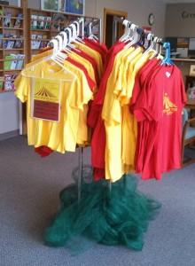 BTF T-shirts on rack