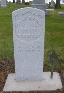 Isaac Ford tombstone