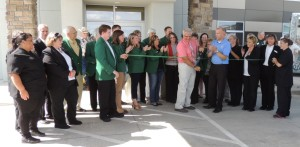 Cobblestone ribbon cutting