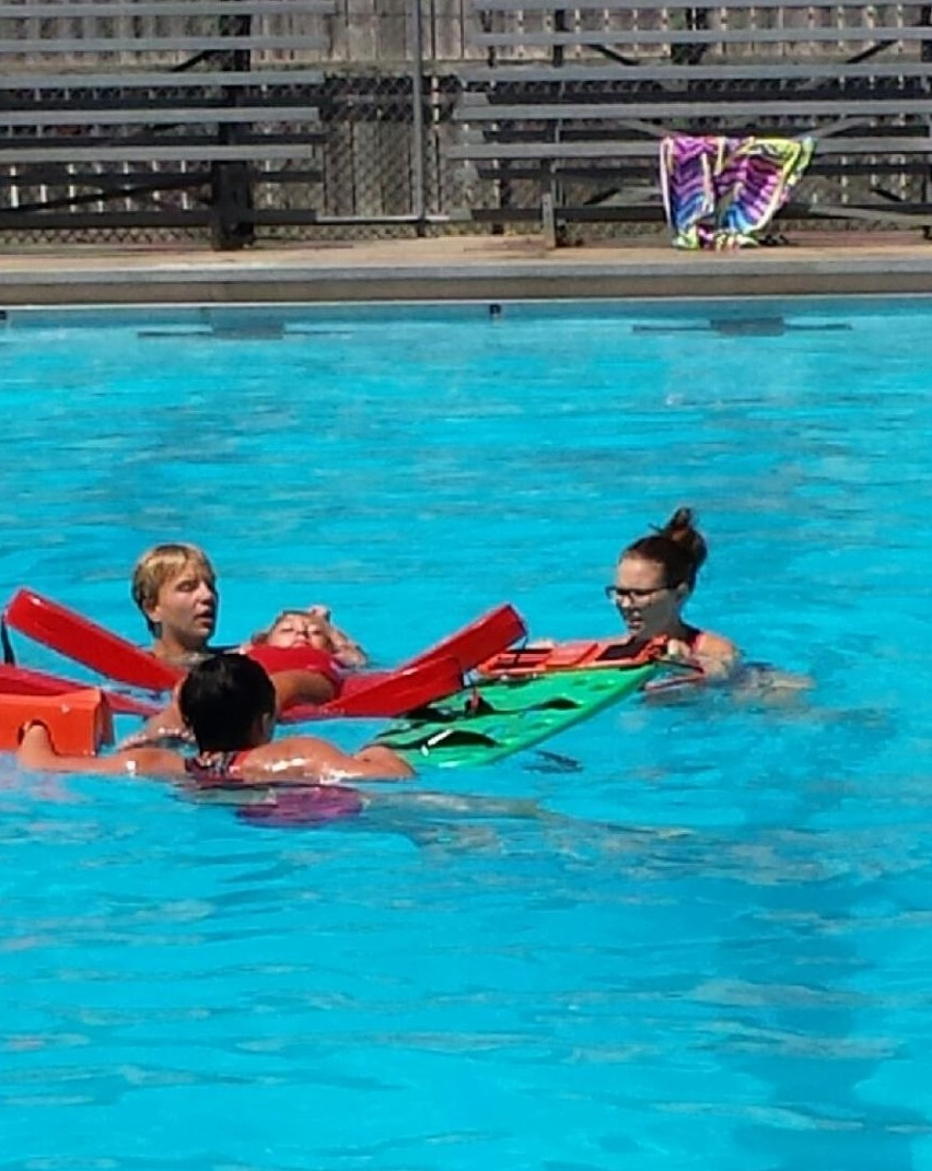 Swimming Pool Injury : Spinal injury drill held at jeff swimming poolgreene