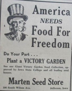 Marten Seed Store ad