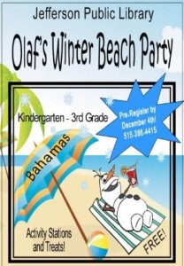 Olaf's beach party