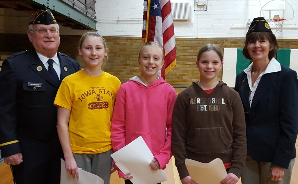 20 Class Winners Announced in American Legion Essay Contest