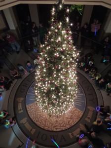 Tree lighting centerpiece