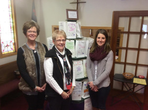 At Christ Lutheran Church (from left) Relay for Life committee members Cindy Tapper, Jan Rosdail and Ashley Beekman