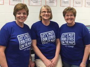 Jefferson Matters program director Peg Raney, teacher Mavis Sawhill, and Jefferson Matters board member Deb McGinn