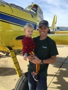 Ryan Stott and son Rowen