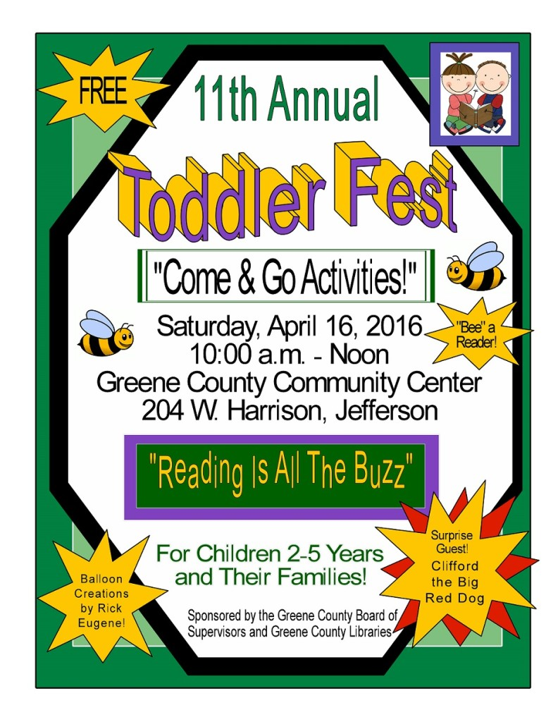 Toddler Fest 2016 Poster with Clifford