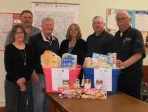 (From left) RSVP Boone-Greene County program director Michele Hull and supervisors John Muir, Guy Richardson, Dawn Rudolph, Mick Burkett and Tom Contner