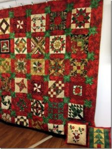 Quilt constructed of 2015 Peoples' Choice blocks