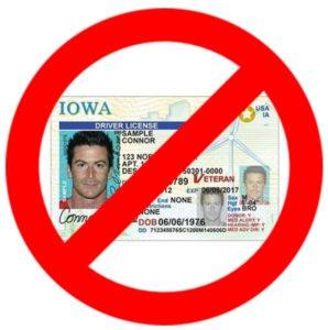 No driver's licens