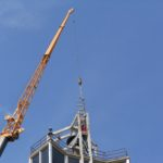 Backets for peripheral bells hoisted up