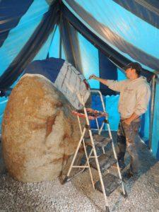 Artist Bubba Sorensen at work