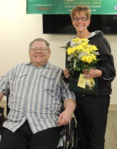 Award recipient Carol Christensen (right) was nominated by Vic Eslick